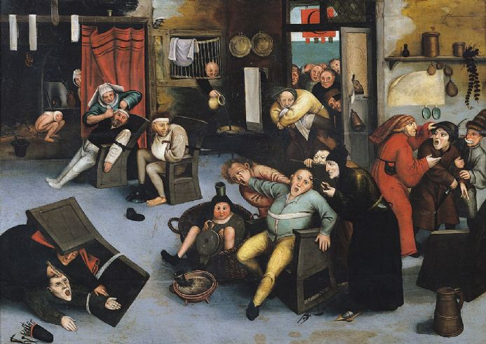 Bruegel the Elder, Pieter: Cutting out the Stone of Madness or an Operation on the Head. Fine Art Print/Poster. Sizes: A4/A3/A2/A1 (003597)